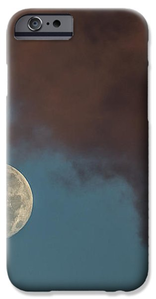 Moon Transition from Night to Day iPhone Case by Rene Triay Photography
