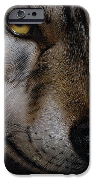 MOON WOLF iPhone Case by Jurek Zamoyski
