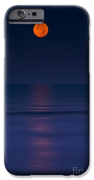 Moon Beach iPhone Cases - Moonar iPhone Case by Marco Crupi