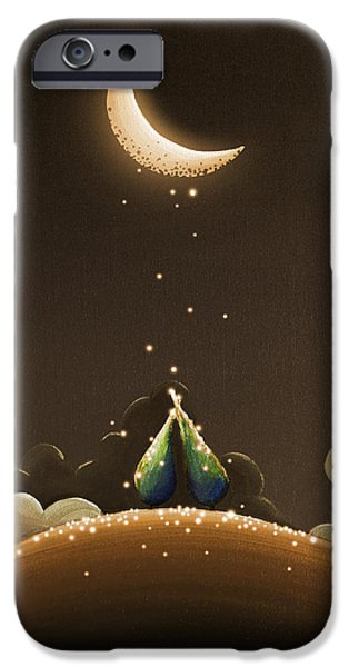 Star Nursery Paintings iPhone Cases - Moondust iPhone Case by Cindy Thornton