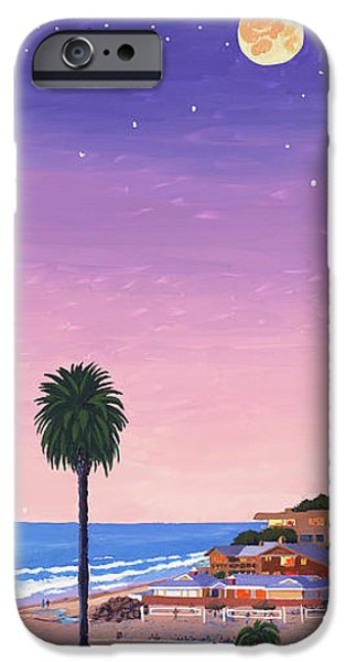 Moonlight Beach at Dusk iPhone Case by Mary Helmreich