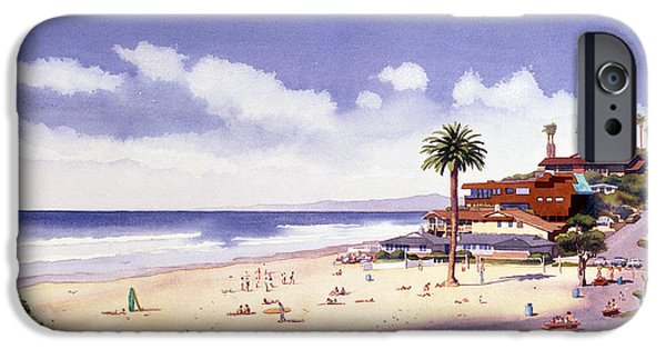 Palm Tree iPhone Cases - Moonlight Beach Encinitas iPhone Case by Mary Helmreich
