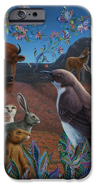 Recently Sold -  - Birds iPhone Cases - Moonlight Cantata iPhone Case by James W Johnson