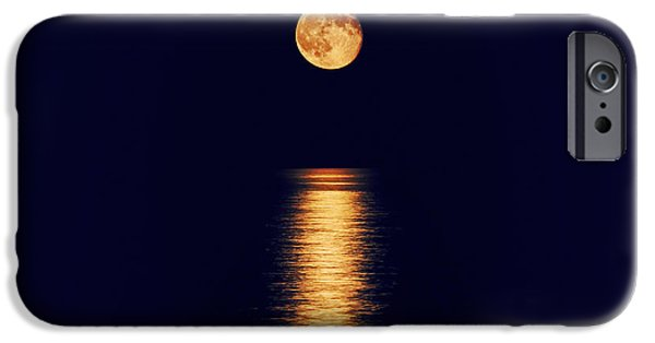 Super Moon iPhone Cases - Moonlight iPhone Case by Charline Xia