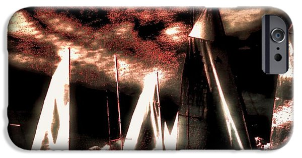Transportation Tapestries - Textiles iPhone Cases - Moonlight Cruise iPhone Case by Robert McCubbin
