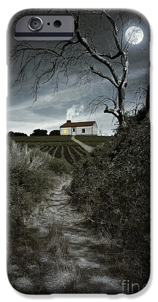 Atmosphere iPhone Cases - Moonlight Farm iPhone Case by Carlos Caetano