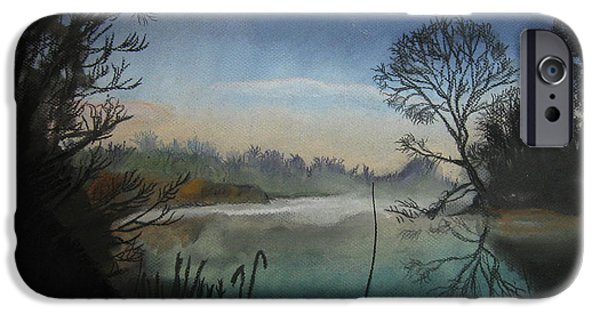 Fog Mist Pastels iPhone Cases - Moonlight Feels Right iPhone Case by Mike Benton
