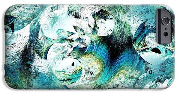 Turquoise iPhone Cases - Moonlight Fish iPhone Case by Anastasiya Malakhova