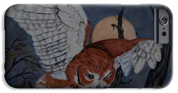 Moon Ceramics iPhone Cases - Moonlight Flight iPhone Case by Sandra Maddox