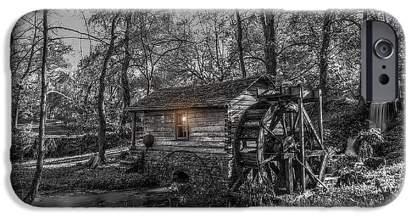 Grist Mill iPhone Cases - Moonlight Grist Mill iPhone Case by Donna Caplinger