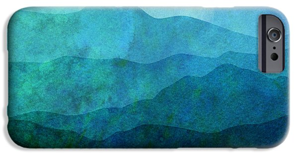 """digital Abstract"" iPhone Cases - Moonlight Hills iPhone Case by Gary Grayson"