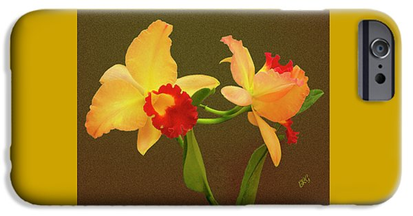 Cattleya iPhone Cases - Moonlight Lady Orchid iPhone Case by Ben and Raisa Gertsberg
