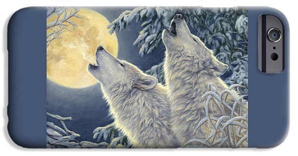 Snow iPhone Cases - Moonlight iPhone Case by Lucie Bilodeau