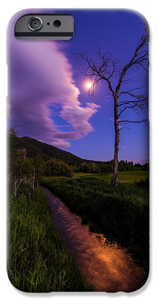 Blue Sky Reflection iPhone Cases - Moonlight Meadow iPhone Case by Chad Dutson