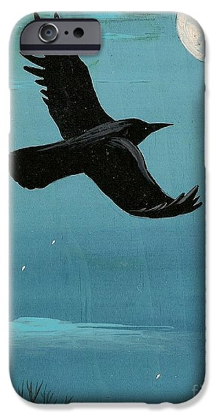 Design iPhone Cases - Moonlight Night iPhone Case by Margaryta Yermolayeva