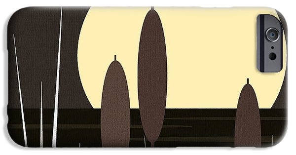 Recently Sold -  - Business Digital iPhone Cases - Moonlight on Loon Lake iPhone Case by Val Arie