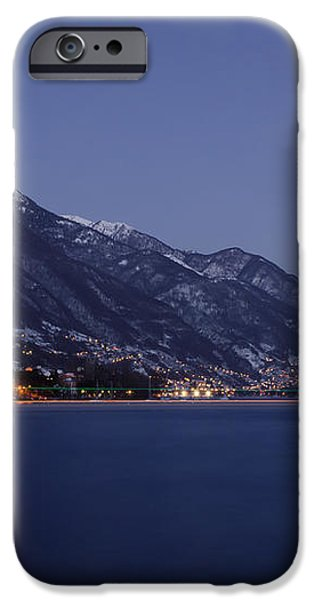 Moonlight over a lake iPhone Case by Mats Silvan