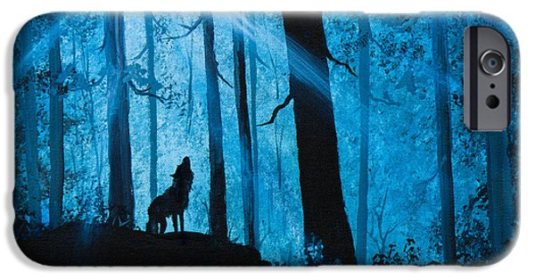 Wet On Wet Paintings iPhone Cases - Moonlight Serenade iPhone Case by C Steele