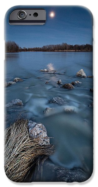 Moonscape iPhone Cases - Moonlight sonata iPhone Case by Davorin Mance
