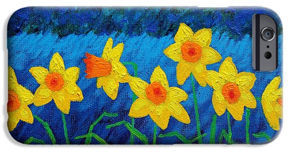 Varnish iPhone Cases - Moonlit Daffodils  iPhone Case by John  Nolan