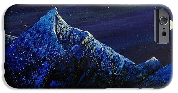 Moonscape iPhone Cases - Moonlit iPhone Case by Edith Peterson-Watson
