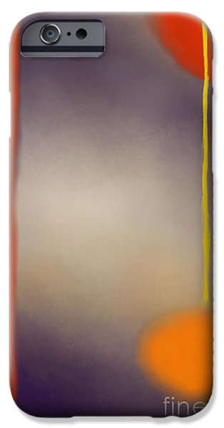 Abstract Digital Paintings iPhone Cases - Moonlit Night Ii iPhone Case by Anita Lewis