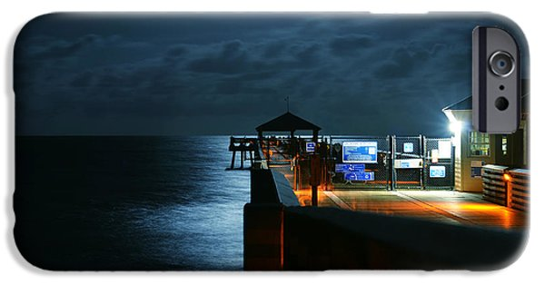 Laura Fasulo iPhone Cases - Moonlit Pier iPhone Case by Laura  Fasulo
