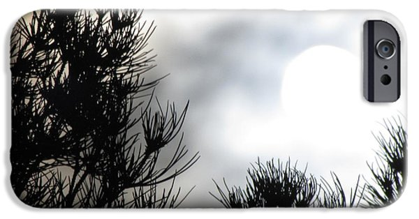 Moonscape iPhone Cases - Moonrise 1 iPhone Case by Benjamin Caron