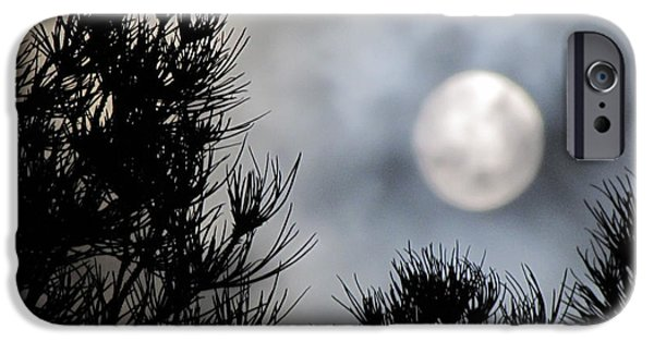 Moonscape iPhone Cases - Moonrise 2 iPhone Case by Benjamin Caron