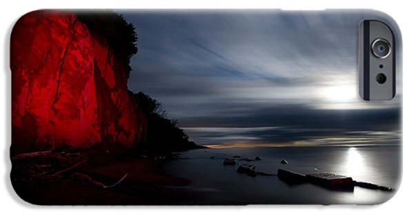 Clearville iPhone Cases - Moonrise at Clearville Beach iPhone Case by Cale Best