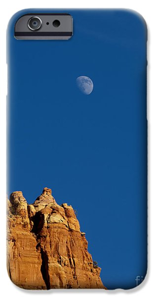 Moon iPhone Cases - Moonrise over Sandstone iPhone Case by Mike  Dawson