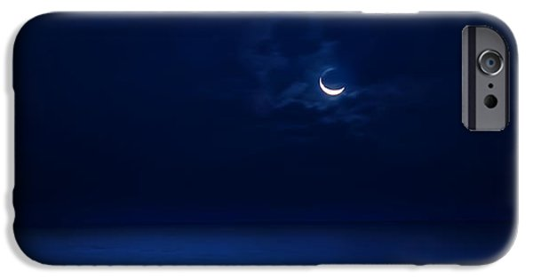 Beauty Mark iPhone Cases - Moonrise Over The Sea iPhone Case by Mark Andrew Thomas