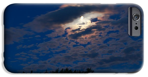 Man In The Moon iPhone Cases - Moonscape iPhone Case by Robert Bales