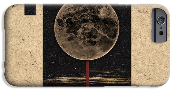 Moon iPhone Cases - Moonset iPhone Case by Carol Leigh