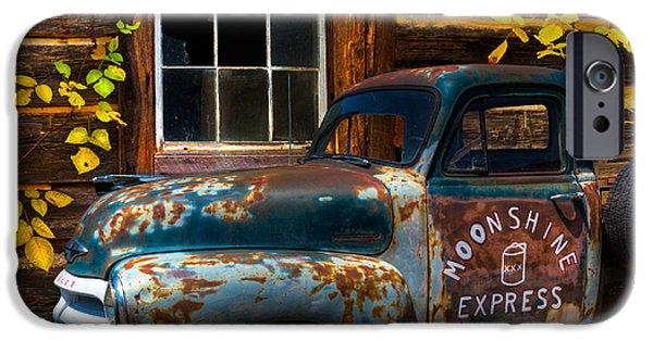 Best Sellers -  - Cabin Window iPhone Cases - Moonshine Express iPhone Case by Debra and Dave Vanderlaan