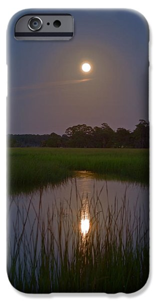 Best Sellers -  - Moonscape iPhone Cases - Moonshine on Burnside Island iPhone Case by Jamie Anderson