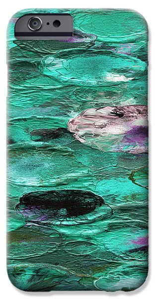 Colorful Abstract iPhone Cases - Moonstruck 6 C iPhone Case by Brian Allan