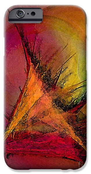 Poetic iPhone Cases - Moonstruck-Abstract Art iPhone Case by Karin Kuhlmann