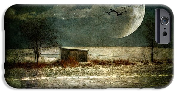 Shed Digital Art iPhone Cases - Moonstruck iPhone Case by Lois Bryan