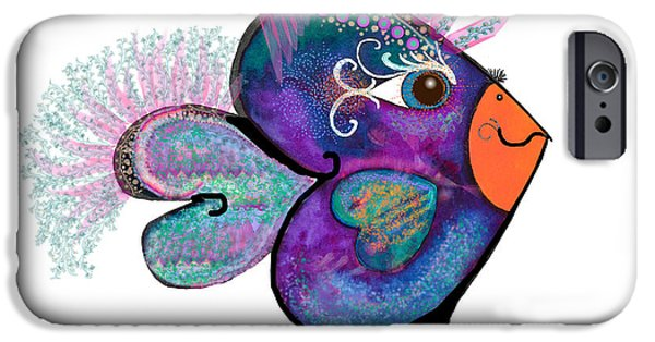 Young Adult iPhone Cases - MoonWorld Series - Love Bird iPhone Case by Moon Stumpp