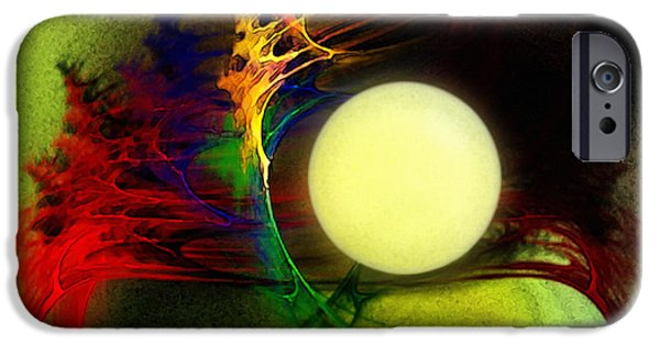 Modern Abstract iPhone Cases - Moony iPhone Case by Karin Kuhlmann