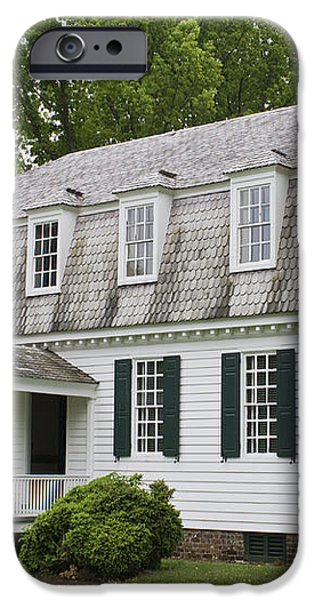 Moore House Yorktown iPhone Case by Teresa Mucha