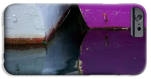 Sea iPhone Cases - Moored Dinghies iPhone Case by Stuart Litoff