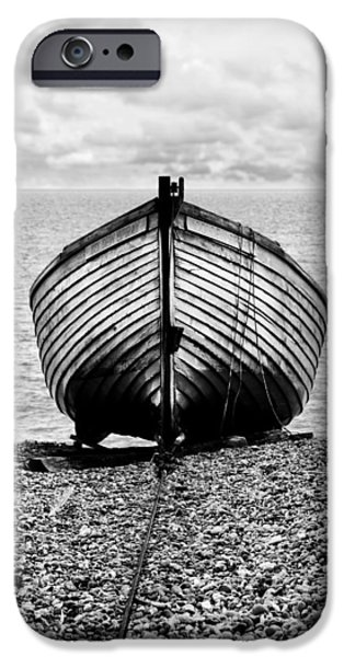Boat iPhone Cases - Moored iPhone Case by Mark Rogan