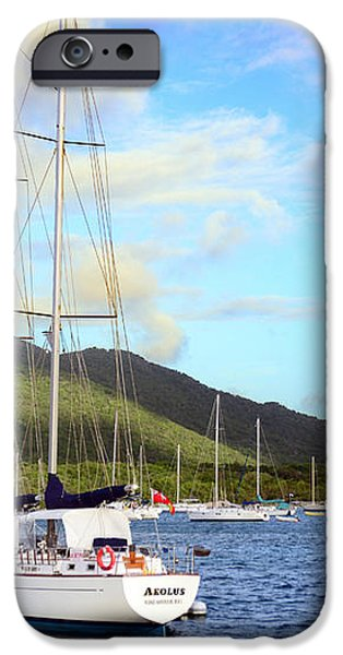 Moored to Relax iPhone Case by Michael Glenn