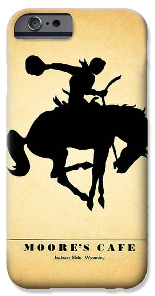 Menu iPhone Cases - Moores Cafe Wyoming 1946 iPhone Case by Mark Rogan