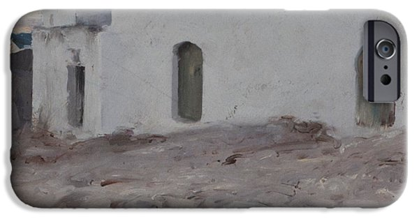 Cloudy Day Paintings iPhone Cases - Moorish Buildings on a Cloudy Day iPhone Case by John Singer Sargent