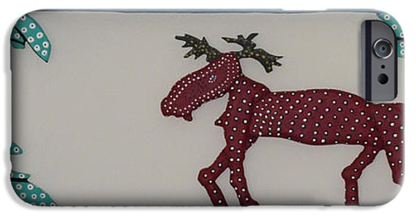 Fun Sculptures iPhone Cases - Moose Coming Home For Christmas iPhone Case by Robert Margetts