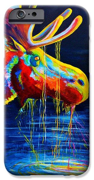 Moose Drool iPhone Case by Teshia Art