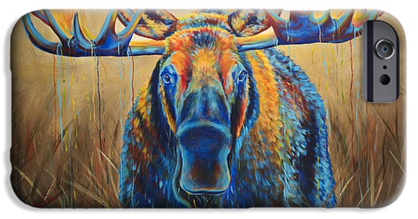 Recently Sold -  - Maine iPhone Cases - Moose Marsh iPhone Case by Teshia Art